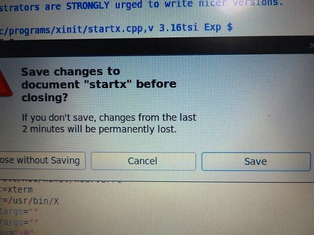 WordやExcelを閉じる時に出る「保存しますか?」の画面と全く同じです。「Save(保存する)」をご選択ください。